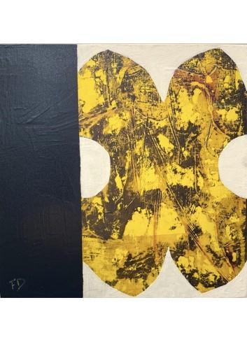 Forme jaune et noire tableau de Françoise Danel