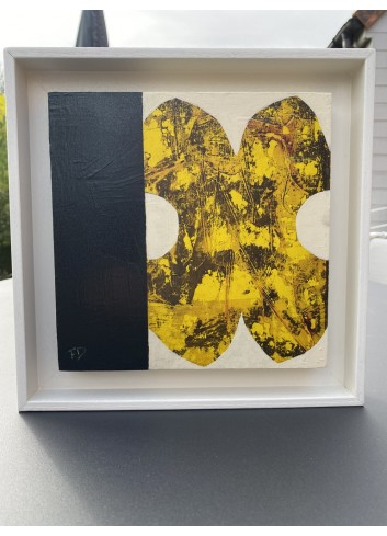 Forme jaune et noire N-9 Françoise Danel