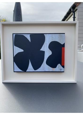 Forme bleue et rouge N-10 Françoise Danel