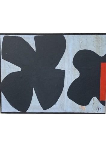 Forme bleue, rouge et noire oeuvre d'art de Françoise Danel