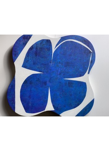 Trèfle bleu et blanc Françoise Danel