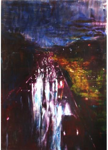 Nocturne IV, 2016. Peinture de Régis Rizzo