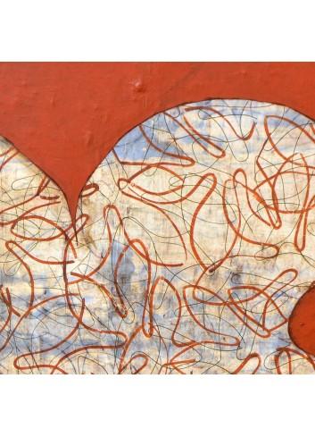 Forme féminine sur fond rouge Françoise Danel
