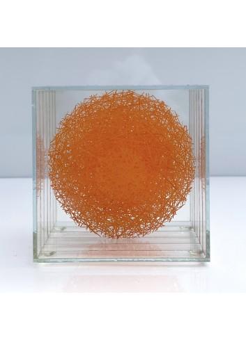Monyalos orange de sculpture en verre de Sébastien Crêteur